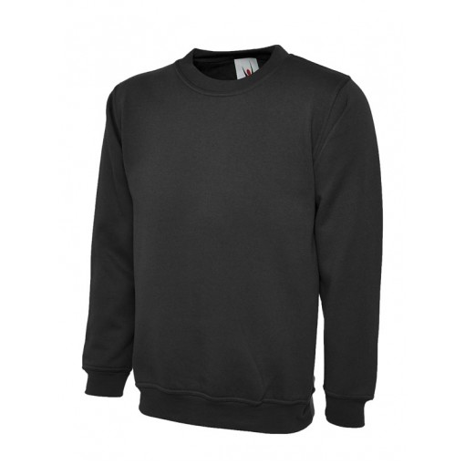 Small Adults Black PE Sweatshirt