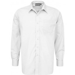 Boys Junior Long Sleeve White Shirts - 2 Pack