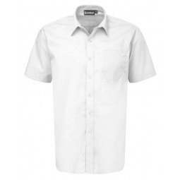 Boys Junior Short Sleeve White Shirts - 2 Pack